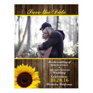 Couple In Love Tenderly Embraces/sunflower theme Postcard
