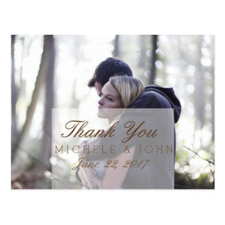 Couple In Love Tenderly Embraces/Thank You Postcard