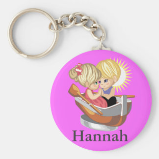 Couple in Rowing Boat Keychain