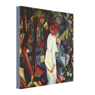 Couple in the Woods by August Macke Canvas Print
