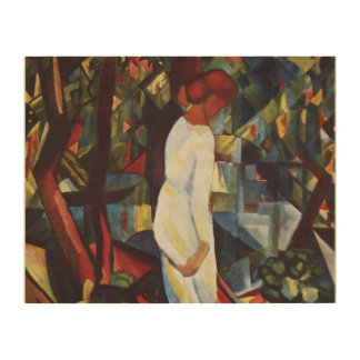 Couple in the Woods by August Macke Wood Wall Art