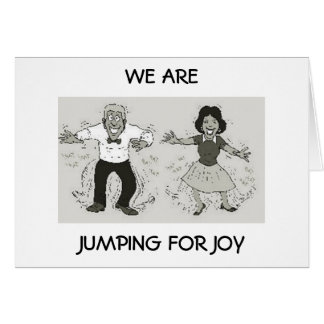 COUPLE IS JUMPING FOR JOY ON YOUR BIRTHDAY CARD