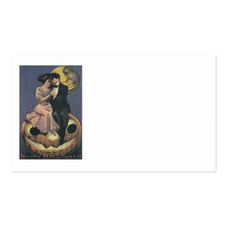 Couple Jack O Lantern Man In The Moon Business Card Template