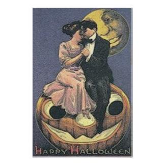 Couple Jack O Lantern Man In The Moon Photo Print
