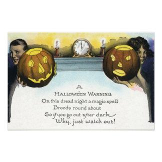 Couple Jack O Lantern Pumpkin Photo Print