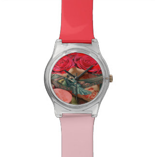 Couple Kiss Rose Hammock Collage Sweethearts Candy Watch