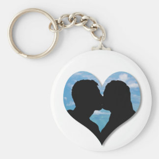 Couple Kissing Silhouette keychain