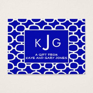 Couple Monogram Enclosure Cards