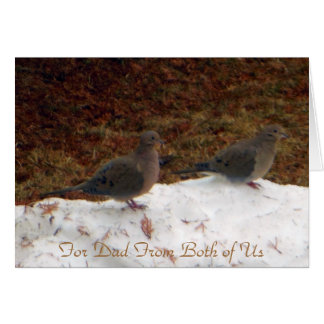 Couple Mourning Doves For Dad Greeting Cards