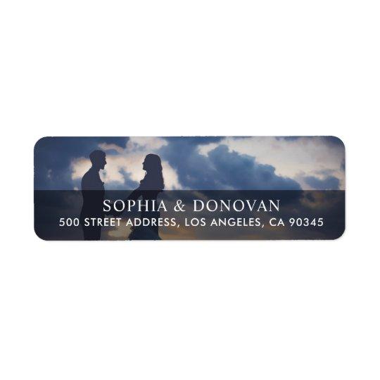 Couple Newlywed Photo Return Address Return Address Label