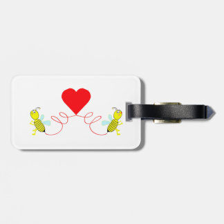 couple of bees luggage tag