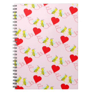 couple of bees spiral notebook