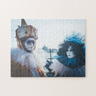 Couple of carnival masks in Venice, Italy Jigsaw Puzzle