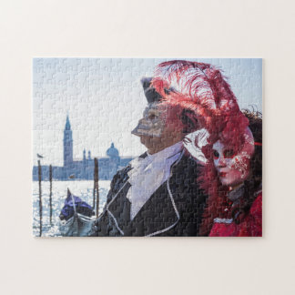 Couple of carnival masks jigsaw puzzle