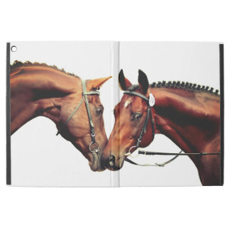 "couple of sportive  horses. iPad pro 12.9"" case"