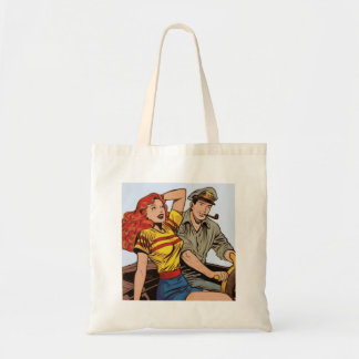 Couple on Motorcyle Tote Bag