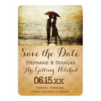 "couple on the beach/Save The Date 5"" X 7"" Invitation Card"