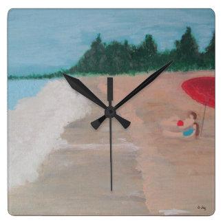 Couple on the Beach Wallclock
