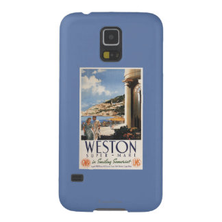 Couple Overlooking Coast Railway Poster Galaxy S5 Case