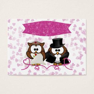 couple owl business card