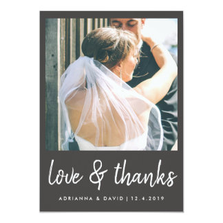 Couple Photo Wedding | Love And Thanks Casual Card