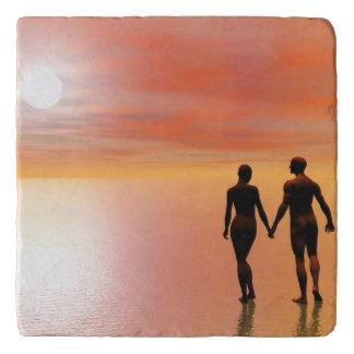 Couple romance - 3D render Trivet