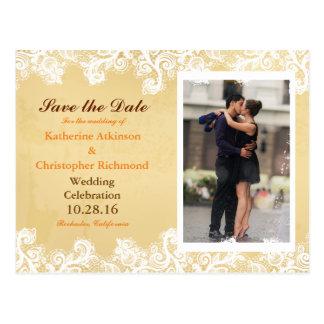 Couple romance kiss in fountain postcard