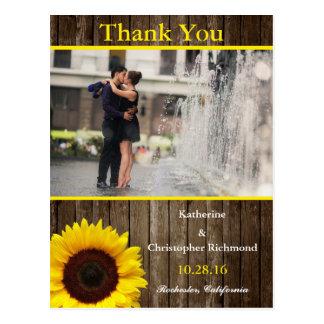 Couple romance kiss in fountain/sunflower theme postcard