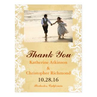Couple Running on the Beach Postcard