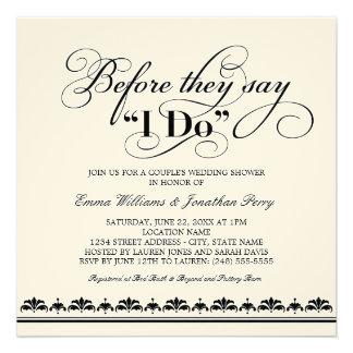 Couple s Wedding Shower Invitation Wedding Vows