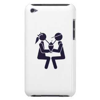 Couple Sharing a Shake Barely There iPod Cases