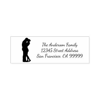 Couple Silhouette - Self Inking Address Stamp