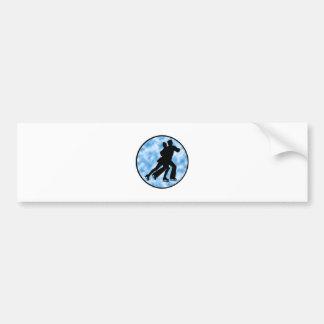 Couple Skate Bumper Sticker