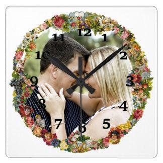 Couple Square Wall Clock