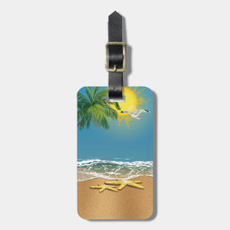 Couple Starfishes On The Beach Luggage Tag