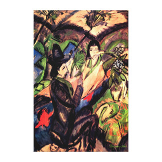 Couple Under a Japanese Umbrella - Ernest Kirchner Canvas Print
