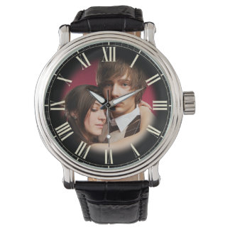 Couple Wedding Portrait Chic Fade to Photo Roman Watch
