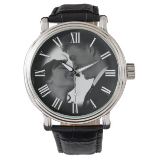 Couple Wedding Portrait Chic Fade to Photo Wristwatches