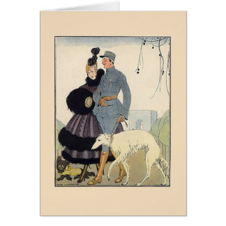 Couple with Dogs Card