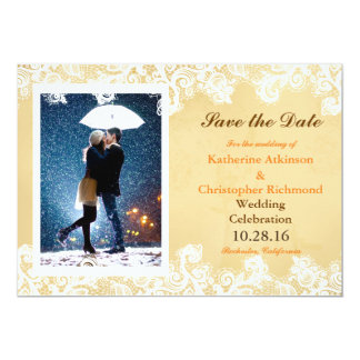 Couple with umbrella kissing at snow card