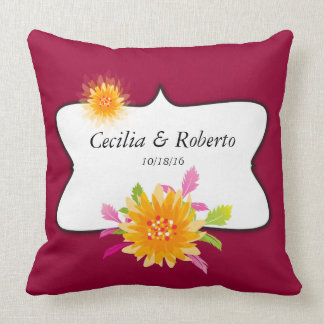 Couples Anniversary or Wedding Throw Pillow