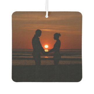 Couples at Sunset Car Air Freshener