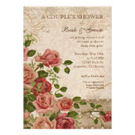 Couple's Bridal Shower - Trellis Rose Vintage Card Personalized Invites