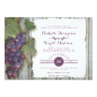 Couples Bridal Shower Vineyard Wine Grapes Theme Card