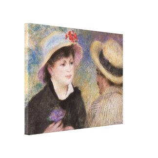 Couples de canotage par Pierre-Auguste Renoir Toiles Tendues Sur Châssis