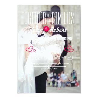 couples de mariage embrassant dans le bonheur de carton d'invitation  12,7 cm x 17,78 cm