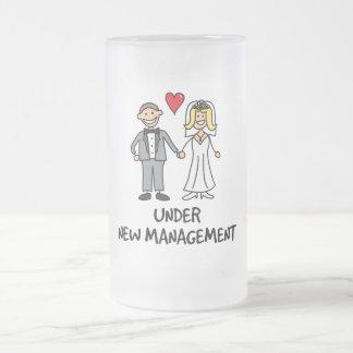 Couples de mariage - sous la nouvelle gestion mug en verre givré