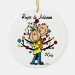 Couples en ornement personnalisé ęr par Noël