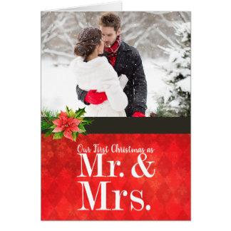 Couple's First Christmas Photo Christmas Card