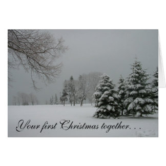 Couple's First Christmas Together-Winter Landscape Greeting Card